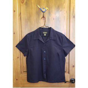 Eddie Bauer Navy Blue Camp Shirt